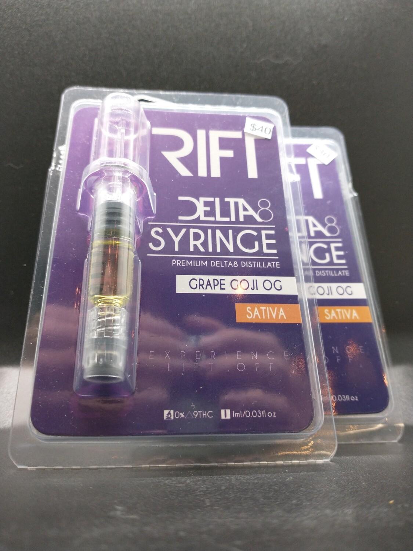 Rift Delta 8 Syringe Grape Goji OG Sativa