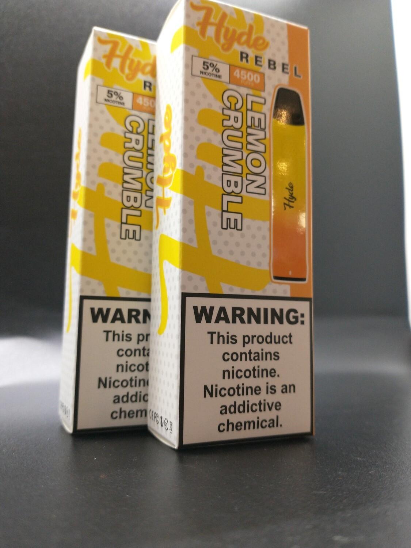 Hyde Rebel 4500 5% Lemon Crumble Salt Nic