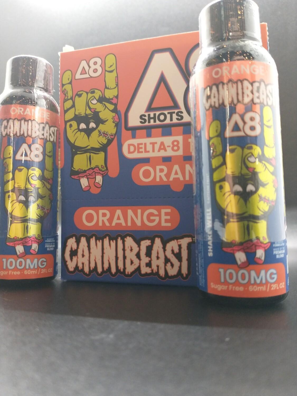 Cannibeast D8 100mg Shot Orange