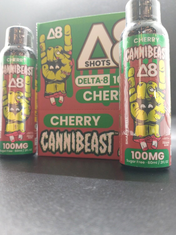 Cannibeast D8 100mg Shot Cherry