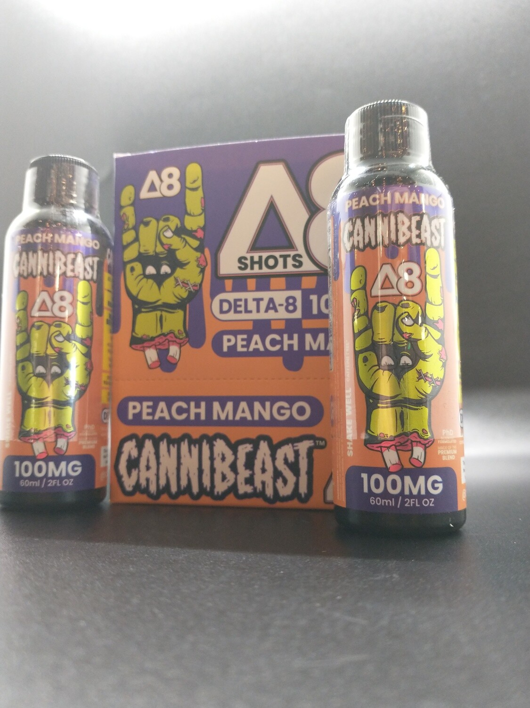 Cannibeast D8 100mg Shot Peach Mango