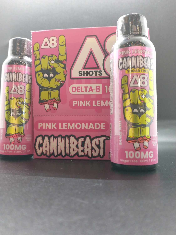 Cannibeast D8 100mg Shot Pink Lemonade