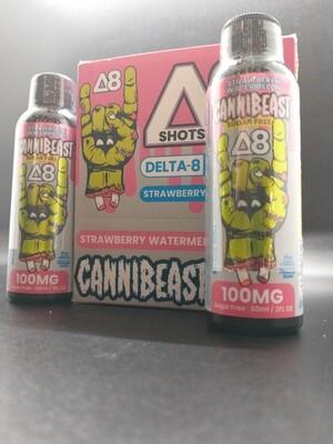 Cannibeast D8 100mg Shot Strawberry Watermelon