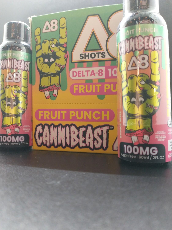 Cannibeast D8 100mg Shot Fruit Punch