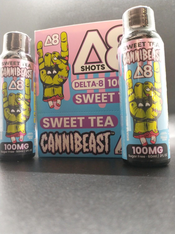 Cannibeast D8 100mg Shot Sweet Tea