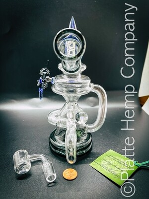 Opal OTG Recycler w/Magnetic Glass Poker