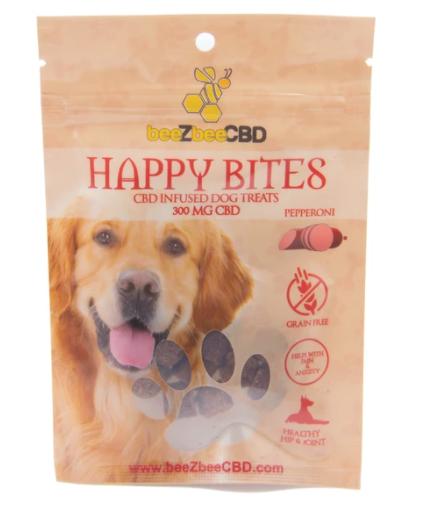 BeeZbee CBD Pet Treats Happy Bites 300mg Pepperoni