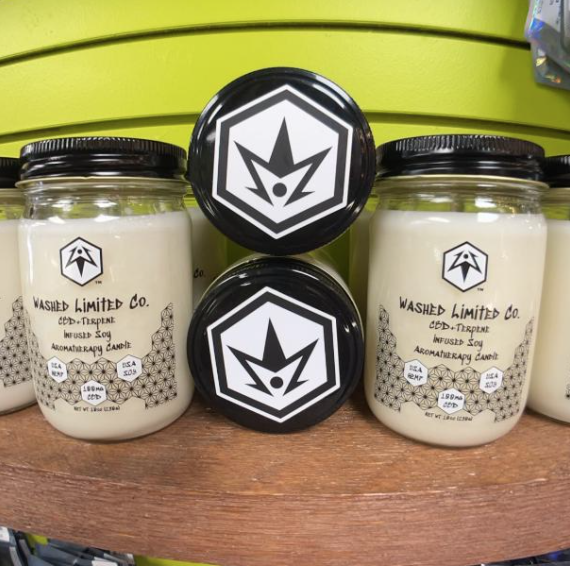 Seaside Smooches Washed Limited Co CBD Terpene Candle