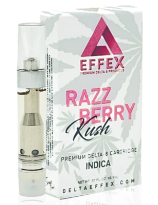 Effex Razzberry Kush Indica 1g Delta-8 Vape Cartridge