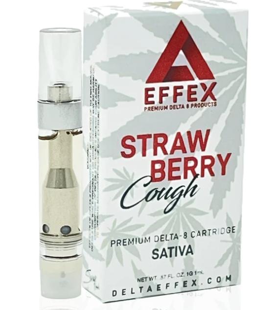 Effex Strawberry Cough Sativa 1g Delta-8 Vape Cartridge