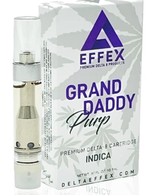 Effex Grand Daddy Purp Indica 1g Delta-8 Vape Cartridge