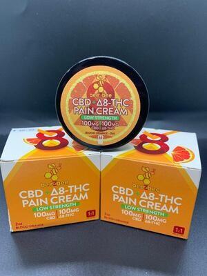 Beezbee CBD+D8-THC Pain Cream 100mg CBD 100mg D8-THC Blood Orange
