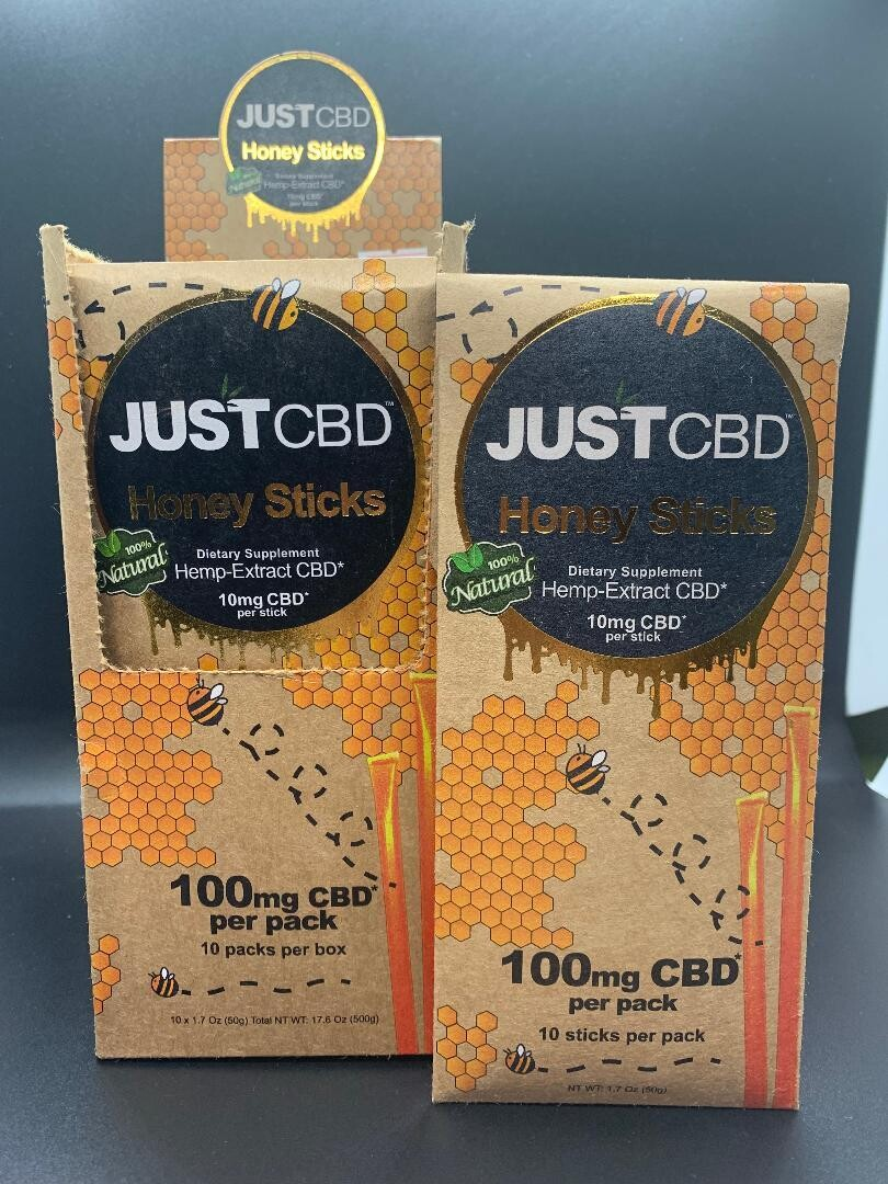 Just CBD Honey Sticks 100mg Per 10pack