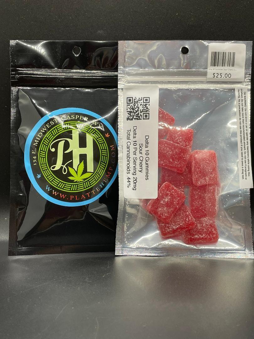 Delta 10 Gummies Sour Cherry 10pc 200mg
