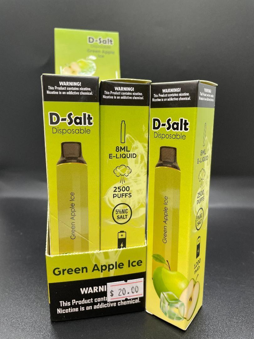 D-Salt 2500 Puff Green Apple Ice