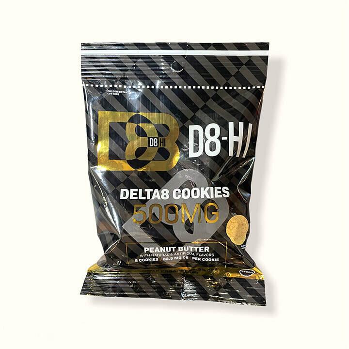 D8-HI Cookie 500mg Peanut Butter