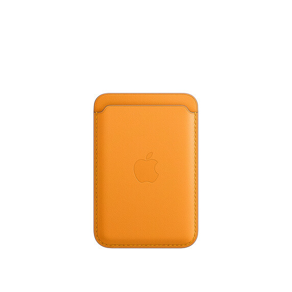 APPLE Wallet de cuero com MagSafe - NARANJA (California Poppy)