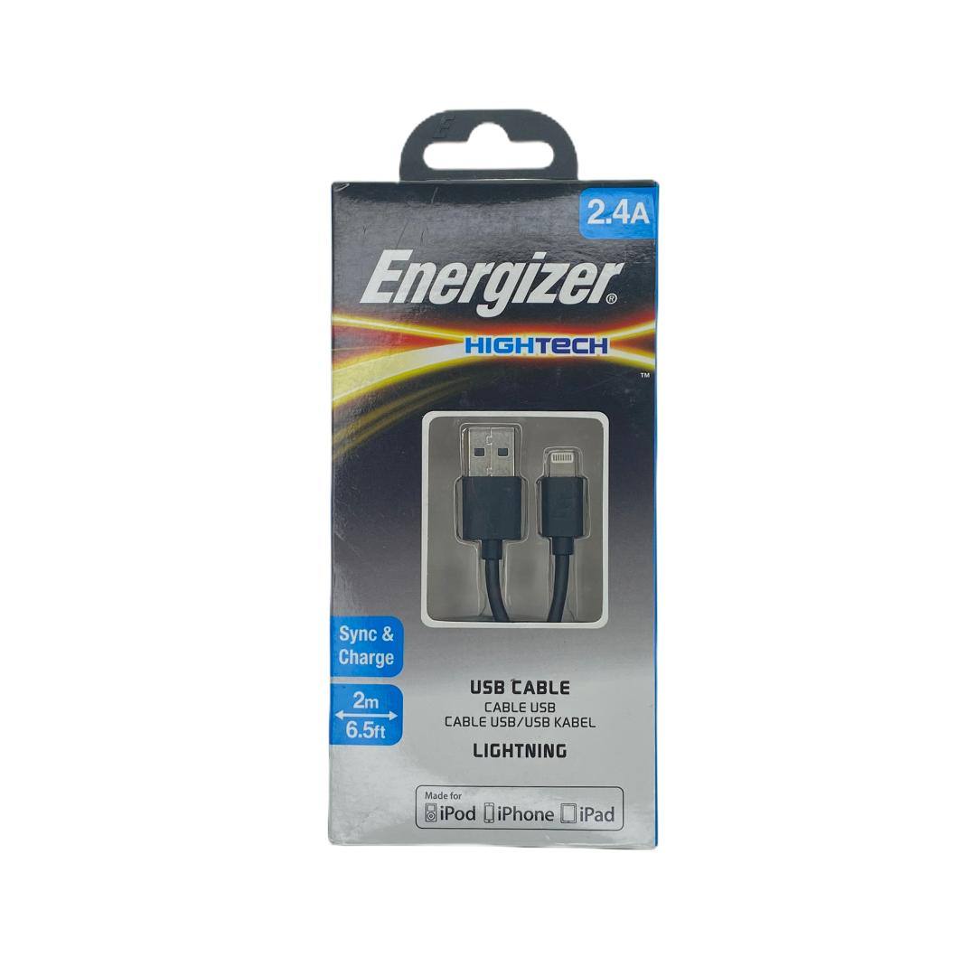 Cables GEN Cable Energizer 2.4A Ultra Rapido Certificado 2 Metros - Negro