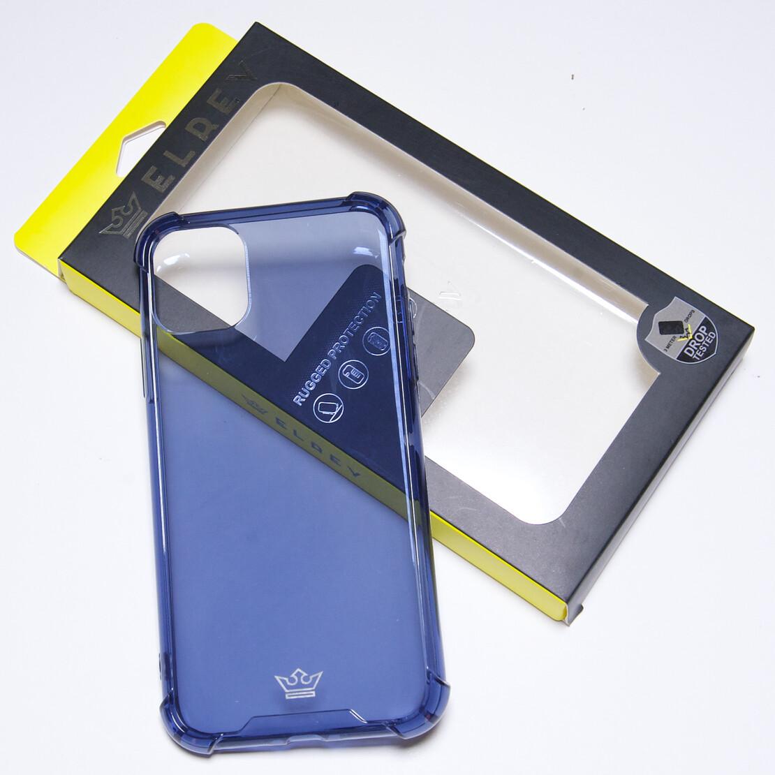 Estuche EL REY Hard Case Flexible Reforzado Azul Marino  Iphone 11 Pro