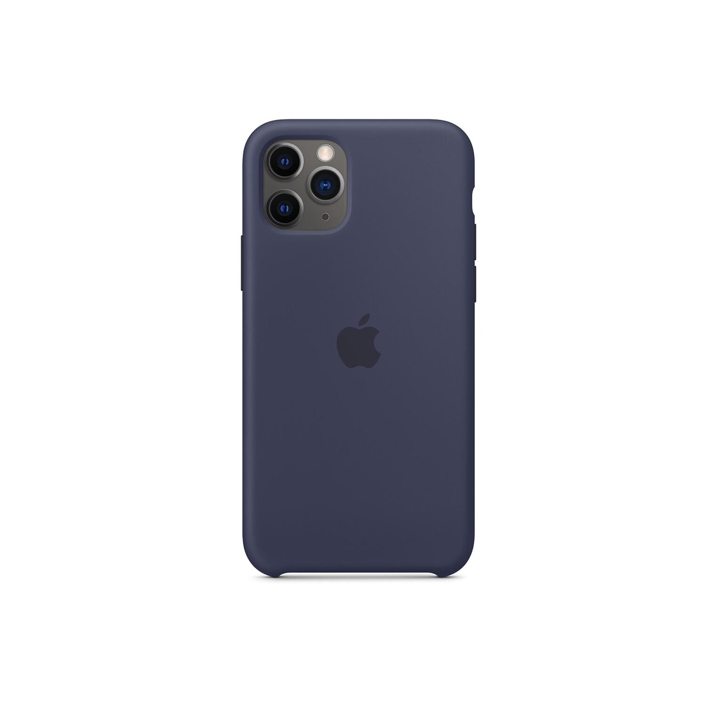 Estuche APPLE Silicon   Azul Marino  (Midnight Blue) IPHONE 11 PRO (5.8)