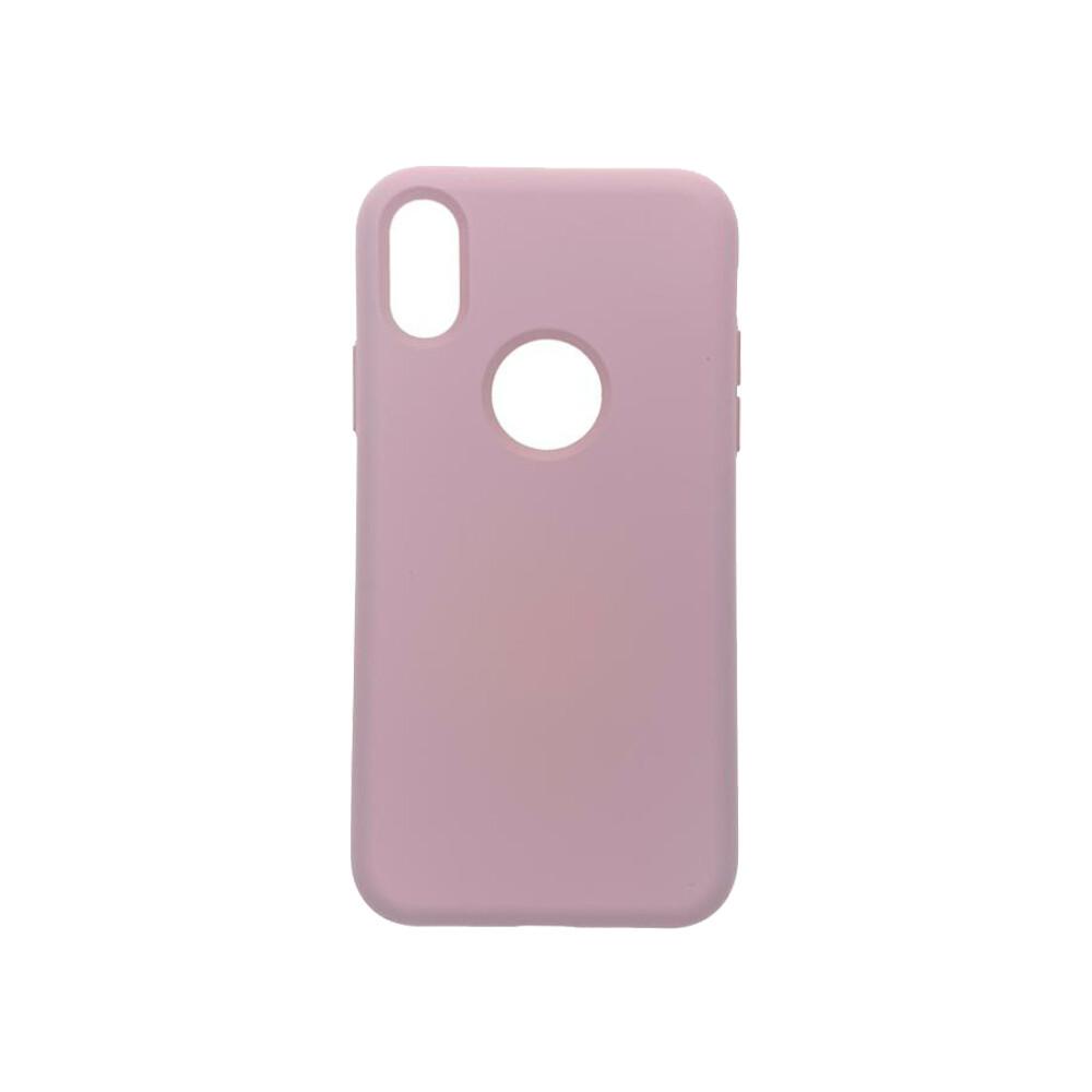 Estuche EL REY Silicon Rosado Palido  Iphone Xs Max