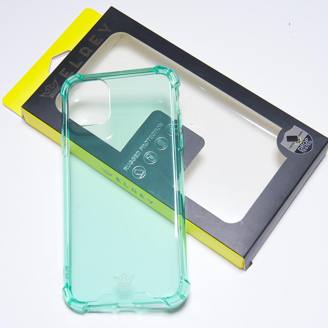 Estuche EL REY Hard Case Flexible Reforzado Menta  Iphone 11