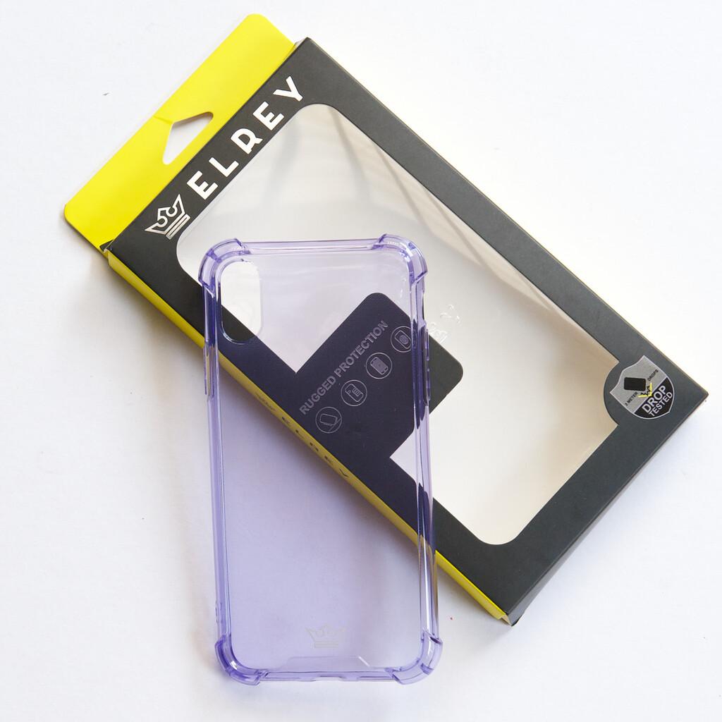 Estuche EL REY Hard Case Flexible Reforzado Morado Iphone Xs Max