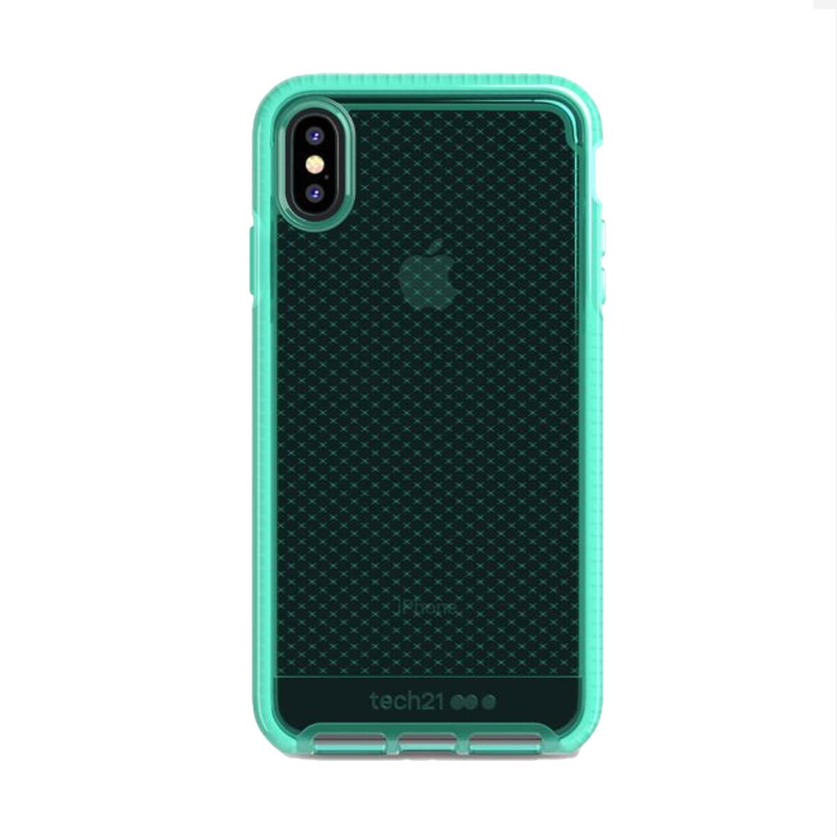 Estuche TECH21 Evocheck  Aqua IPHONE XS MAX (6.5)