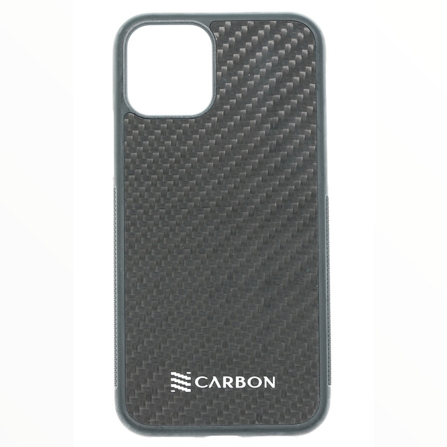Estuche  Fibra De Carbon Real Negro IPHONE 12 MINI 5.4