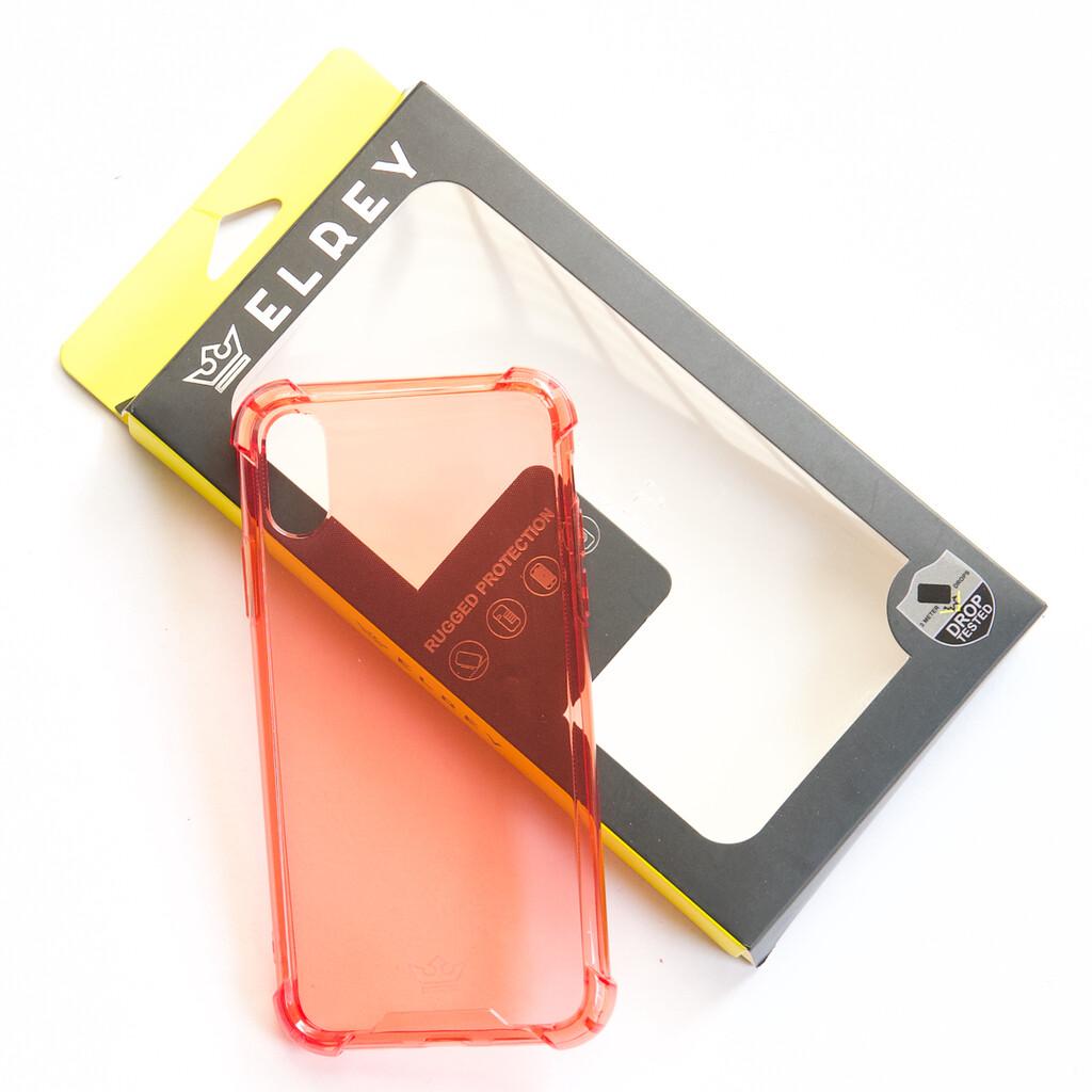Estuche EL REY Hard Case Flexible Reforzado Rojo  Iphone Xs Max