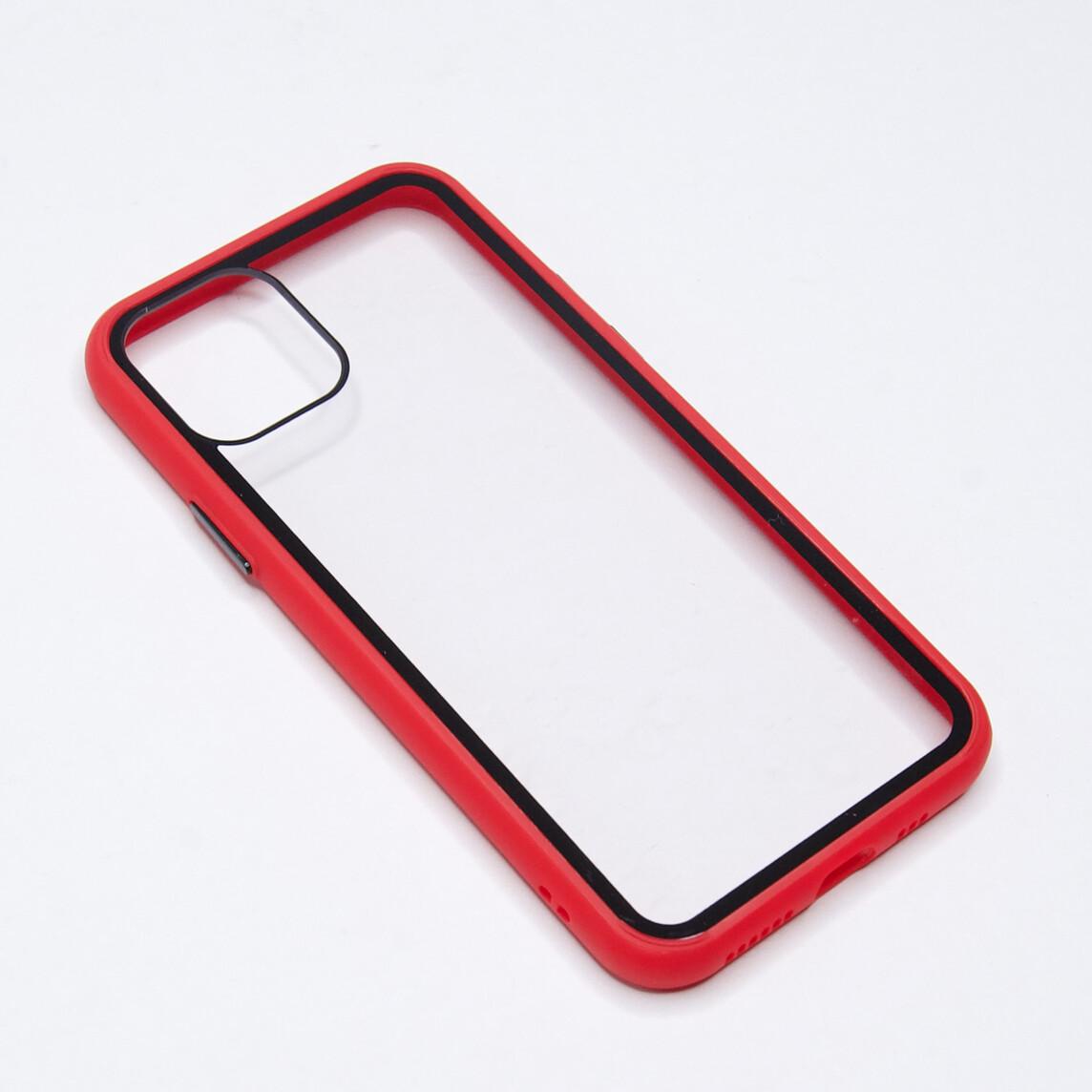 Estuche EL REY Marco De Color Rojo Y Parte De Atras Transparente - Iphone 11 Pro
