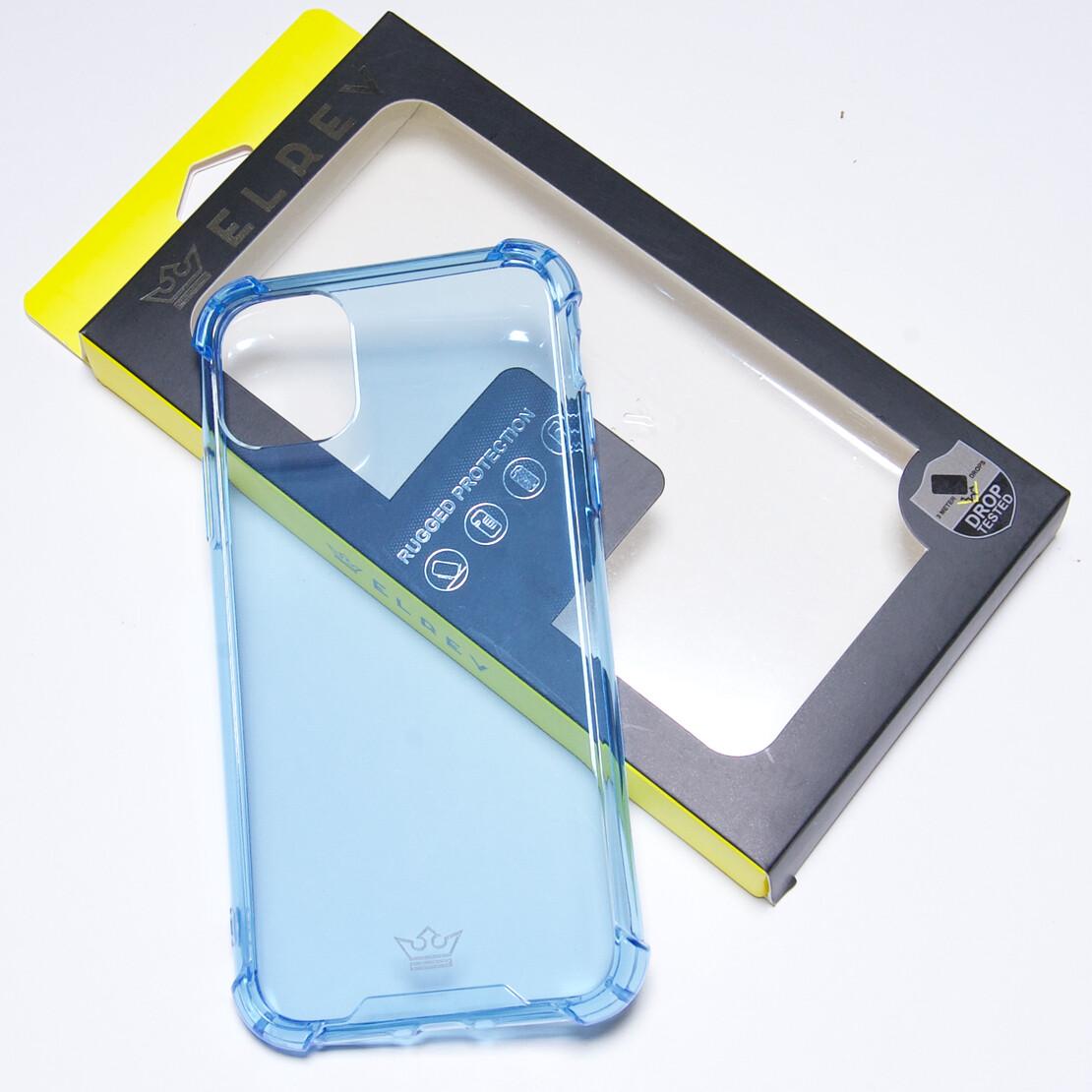 Estuche EL REY Hard Case Flexible Reforzado Celeste - Iphone 11 Pro