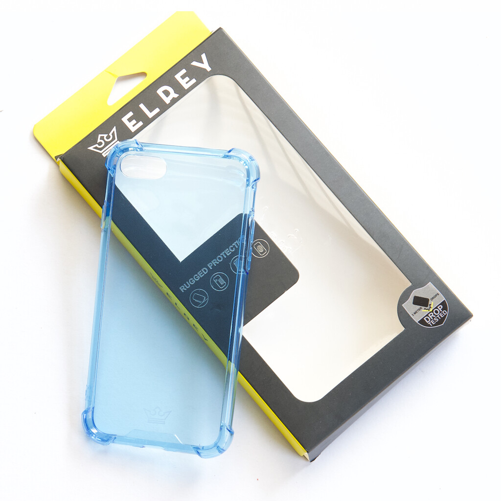 Estuche EL REY Hard Case Flexible Reforzado Celeste Iphone 7