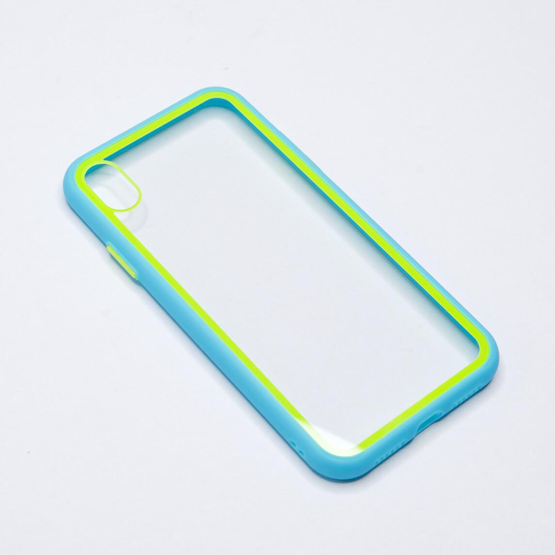 Estuche EL REY Marco De Color Celeste Y Parte De Atras Transparente - Iphone Xr