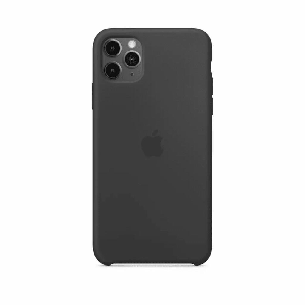 Estuche APPLE Silicon completo - NEGRO IPHONE 11 PRO MAX (6.5)