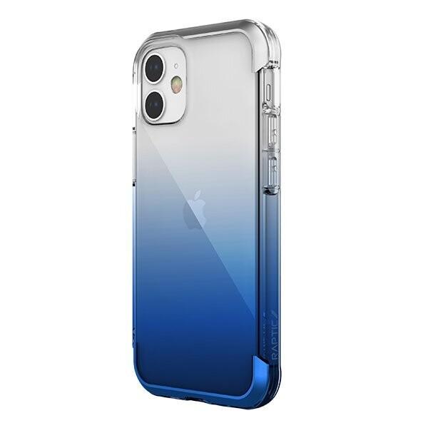 Estuche XDORIA Raptic Air Transparente / Azul - IPHONE 12 MINI 5.4