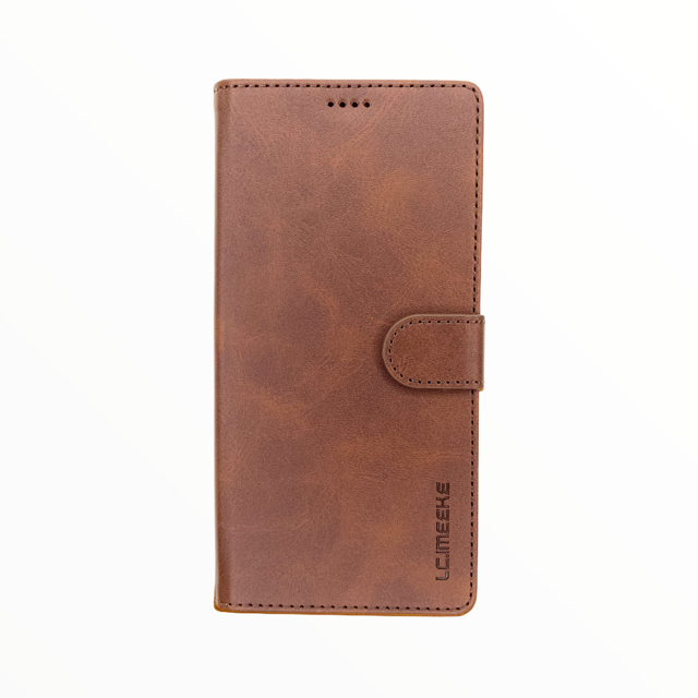 Estuche LC IMEEKE Libreta Con Porta Tarjeta Cafe Oscuro - Samsung  Note10 Lite / A81
