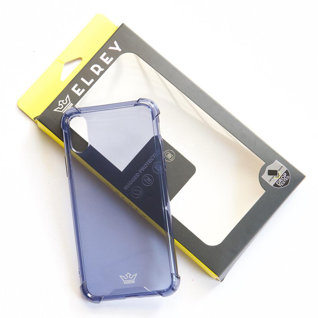 Estuche EL REY Hard Case Flexible Reforzado Azul Marino  Iphone Xs Max