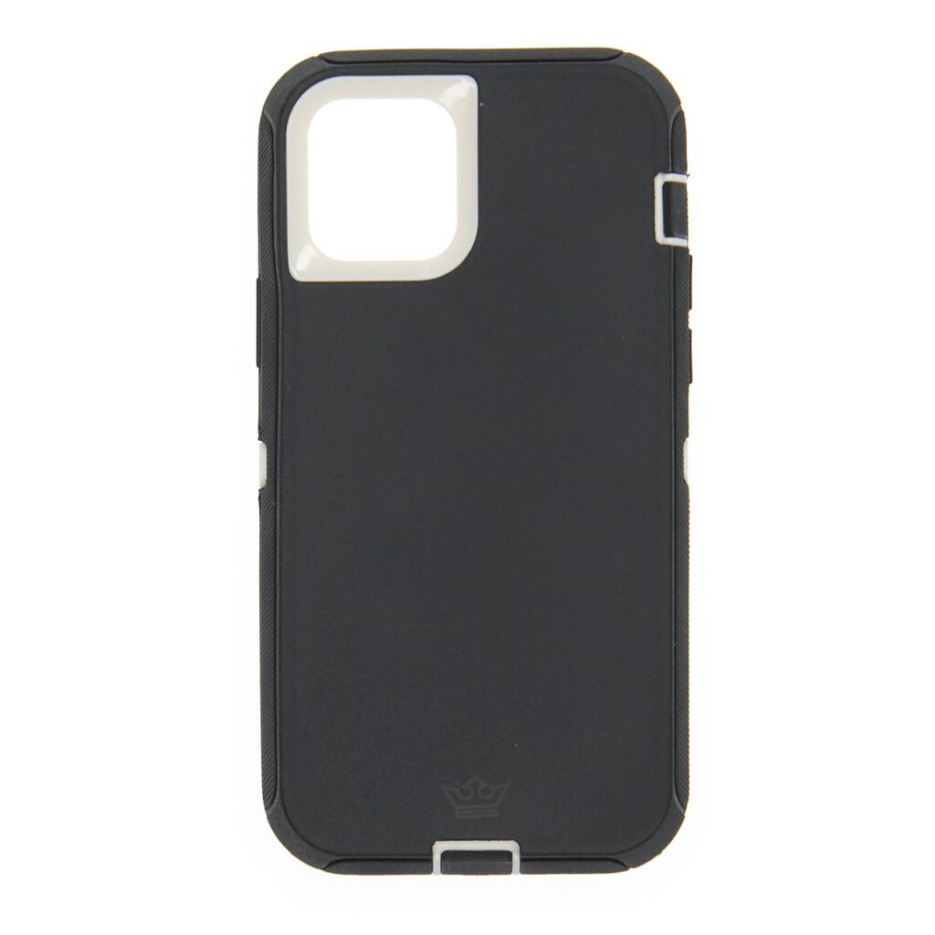 Estuche EL REY Defender Con Clip Negro / Blanco - IPHONE 12 PRO MAX 6.7
