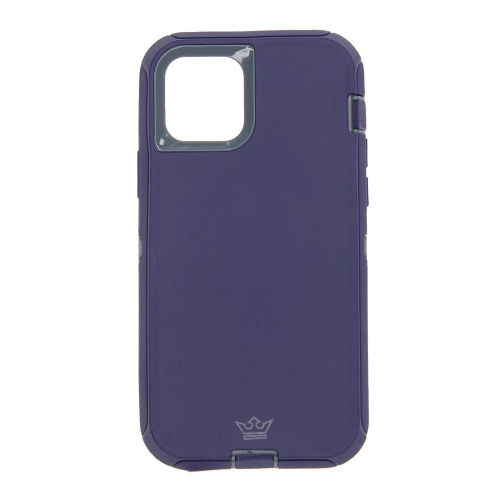 Estuche EL REY Defender Con Clip Azul Marino / Gris - IPHONE 12 PRO MAX 6.7
