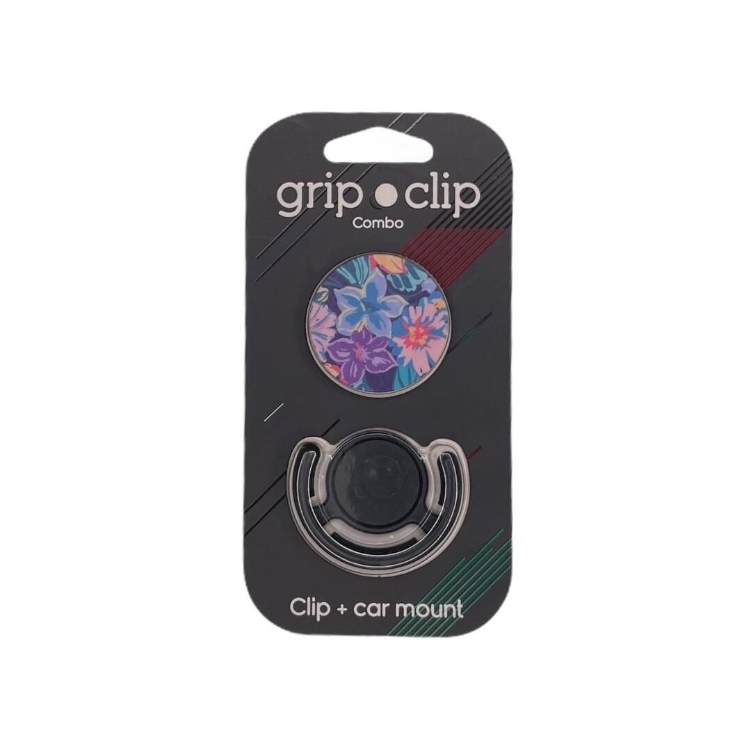 GRIP CLIP flores de colores morado azul rosado