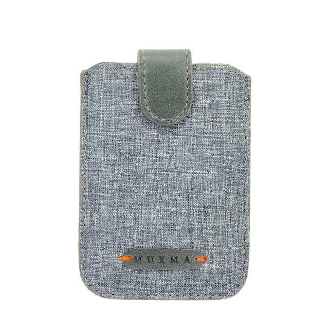 GEN Porta Tarjeta Muxma Gris/Verde  Jeans Con Rfid