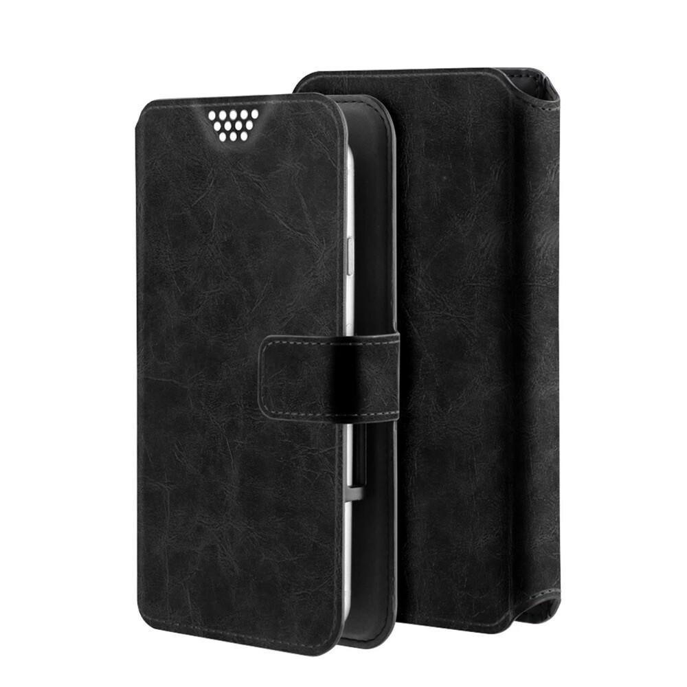 Estuche PRODIGEE Wallet  universal  de cuero grande tamano 5.8 y 6.1 pulgadas negro