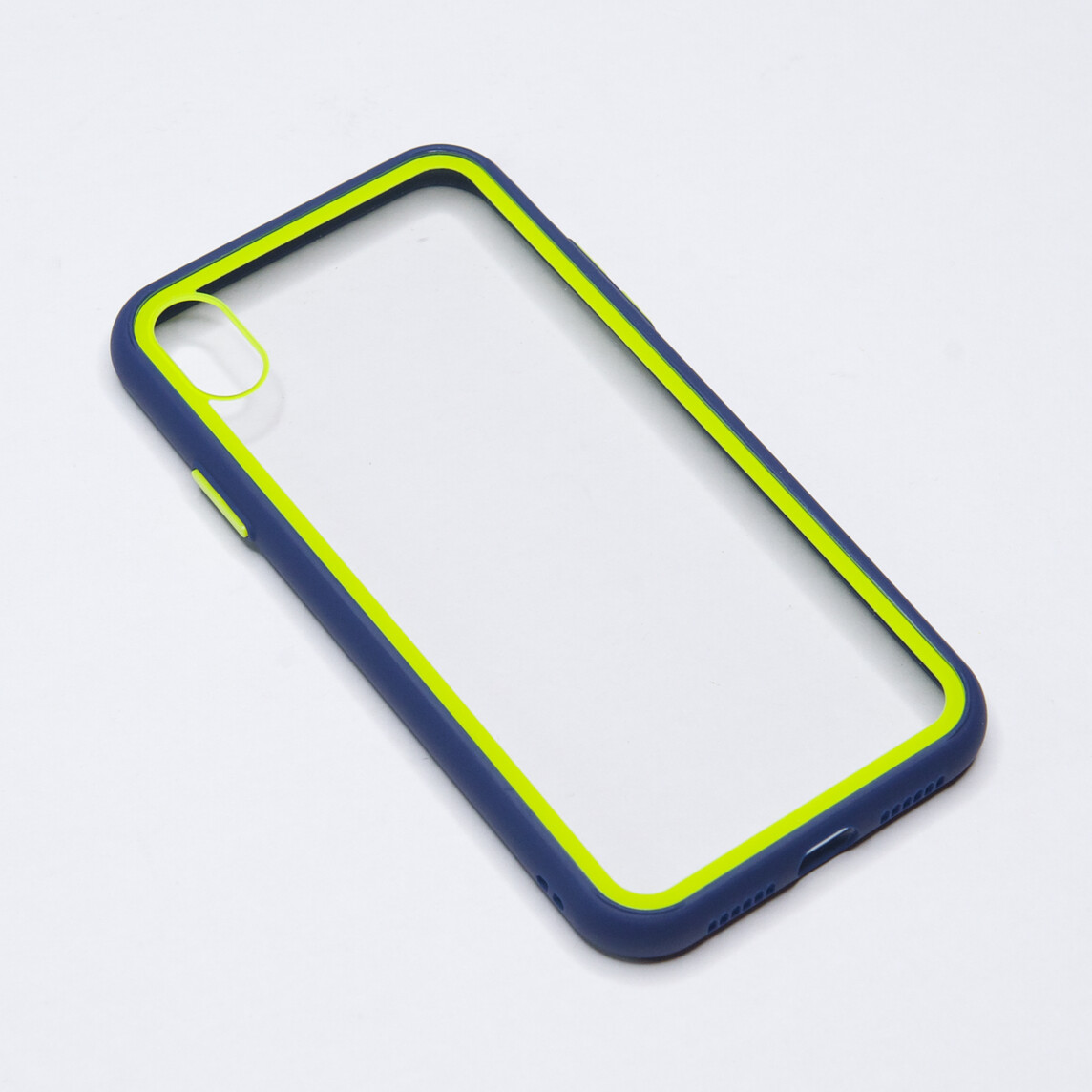Estuche EL REY Marco De Color Azul Y Parte De Atras Transparente - Iphone Xs Max