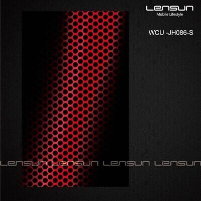 LENSUN para la parte trasera Estilo 20 Lamina Patron con textura de agujeros en negro y rojo