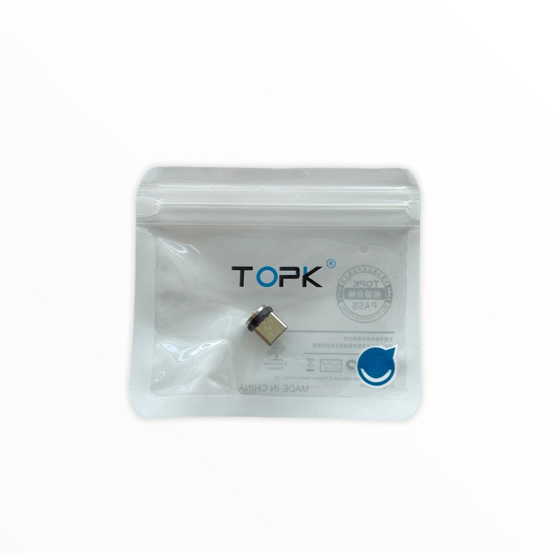 Cables TOPK Adaptador tipo c para cables carga rapida