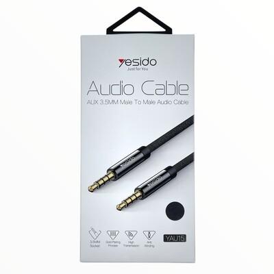 Cables GEN Cable auxiliar refrozado 3.5mm marca  YESIDO de 2 metros