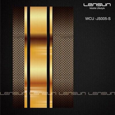 LENSUN para la parte trasera Estilo 21 Lamina fondo negro y linea dorada en medio .