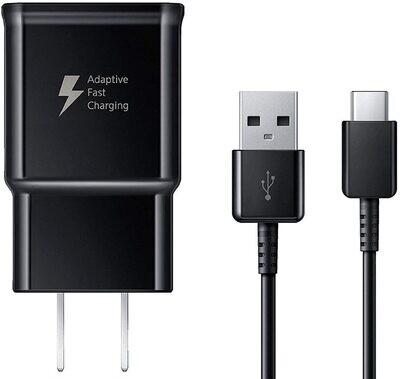 GEN Kit Pared Carga Rapida + Cable Empaque -  Negro Tipo C