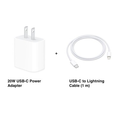 APPLE Cargador de pared Ultra Rapido De 20W Tipo C + Cable tipo C a lightning